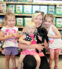 Natasha Mackenzie's Wallaceburg home just got a little busier with the adoption of JP, a six-week old lab mix.  The six-week old dog will have plenty of company from Mackenize's children Hailey, Chloe and Laila who couldn't wait to get home to play with JP.