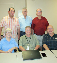 Members of the SDH board meet to discuss the Adamson report into operations of the Chatham-Kent Health Alliance. Front row left to right Kris Lee, chair Sheldon Parsons, George Lung. Second row left to right Rex Issac, vice chair Herb John and Conrad Noel.