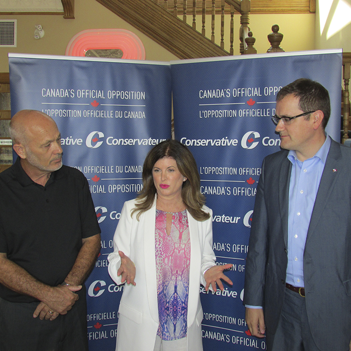 Chatham-Ken-Essex MP Dave Van Kesteren, Interim Conservative leader Rona Ambrose and B.C. MP Dan Albas were at the Retro Suites today to discuss a variety of topics, including yesterday's foiled terror plot in Strathroy.