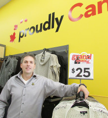 Mark Lush, store manager for Giant Tiger's Chatham operation, is proud of the new location at Thames Lea Plaza. He said the store more than doubled its square footage from its former Richmond Street location.