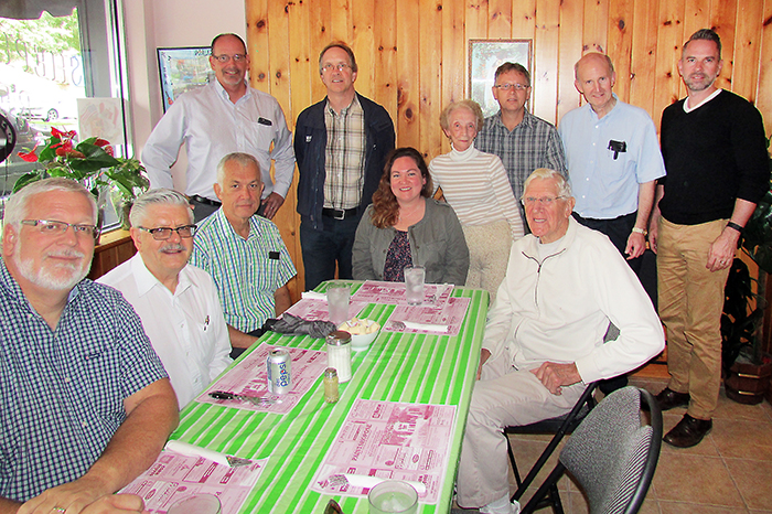 Once a month, members of the Chatham clergy visit the Shepard's Way Inn for lunch, fellowship and a chance to chat with Theresa Nadeau, who operates the non-profit restaurant.