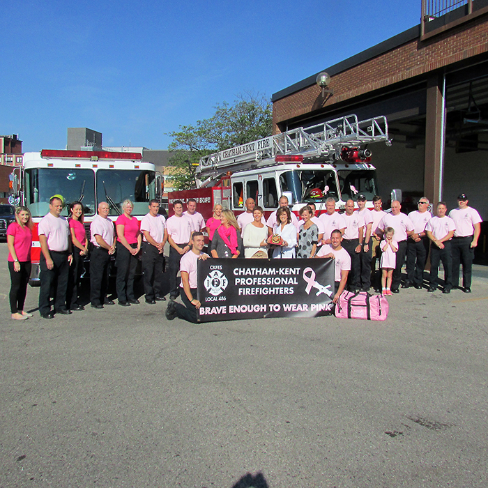 Chatham Kent firefighters and supporters are launching a Care Enough to Wear Pink campaign at two Chatham grocery stores this weekend. Pink t-shirts will be sold for $20 with proceeds going to cancer awareness and research groups.