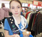 Girl Guide Paige Aitken, 11, was the second place winner in the Cupcake Day challenge at Value Village on Saturday. The event, through the sale of homemade cupcakes, raises money for local charity. This year is Aitken's third entry in the challenge.
