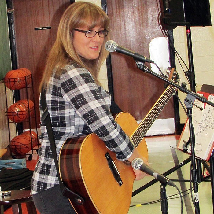 Country singer Michelle Wright stopped by her former elementary school March 9 – Merlin Area Public School – to perform and speak to the students.