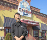 Dan Chahbar stands outside Crabby Joe's in Chatham, a roadhouse he's owned and operated for the past 18 years. He's sold the business to focus on spending more time with his young family.