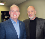 Federal Conservative leadership candidate Erin O'Toole, left, received a guided tour of Chatham-Kent recently by Chatham-Kent Essex MP Dave Van Kesteren.