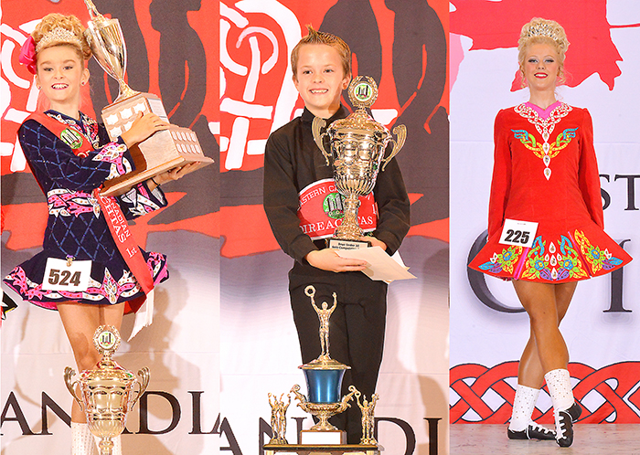Andrea Dick, left, Graham Vandernaalt and Emma Howitt, members of the Cornell School of Irish Dance, are heading off to Ireland this month to compete in the World Championships of Irish Dance.