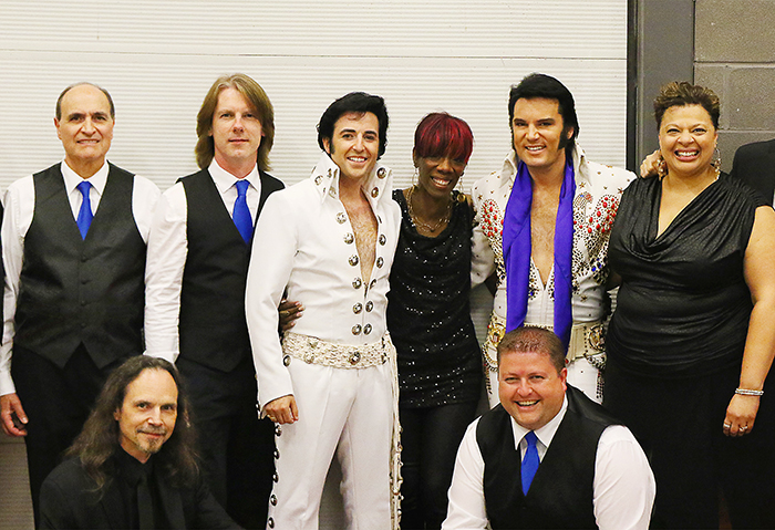 Pete Paquette, centre, became a huge Elvis Presley fan at the age of eight, so much so he has made a career out of performing as Elvis, and has won the Collingwood Elvis Festival twice. He returns to the Chatham Capitol Theatre April 29.