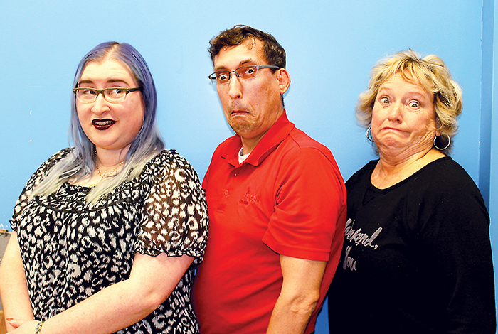 Theatre Kent's show An Evening Of Comedy is being put together by three funny directors, from left, Erin Kys, Eric Bristow and Jan-Walker Holt. The show opens at the Cultural Centre on April 27 and runs until May 6.