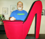 "Dave McCready, owner of six Subway restaurants around the municipality, is a supporter of the Chatham-Kent Women's Centre's annual Walk a Mile in Her Shoes event June 3. This huge red high-heeled shoe will be used in a ""Do the Shoe"" awareness event prior to the walk."