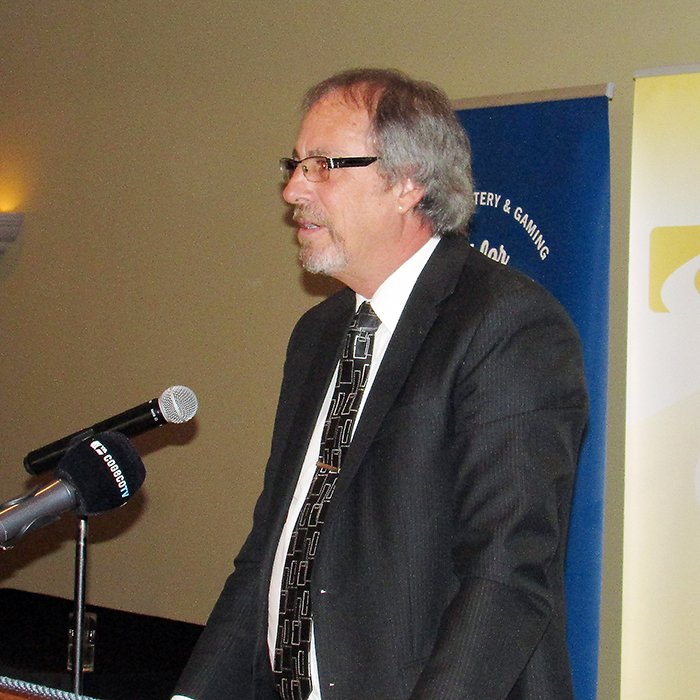 Chatham-Kent Mayor Randy Hope addresses a gathering of local business owners and municipal staff at the annual Chatham-Kent Chamber of Commerce mayoral address breakfast May 3.