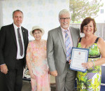 CK Mayor Randy Hope presented a certificate to the Mental Health Network founder Ida Vsetula, centre, and executive director Kelly Gottschling in honour of the 10th anniversary of the organization recently. They were joined by Chatham-Kent Leamington MPP Rick Nicholls.
