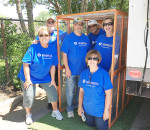 From left, Terri Dent, Ron Dent, Gary O'Rourke, Mark Lacina, Ruth Tattersall and Deane Paxton. O'Rourke is a shelter volunteer.