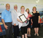 Chatham-Kent Leamington MP Dave Van Kesteren, left, and MPP Rick Nicholls, along with Chatham-Kent councillors Karen Herman, right, and Carmen McGregor, second from right, present JoAn Dale with her 2017 Seniors' Achievement Award Friday in Blenheim. Dale beat out 35 other nominees to earn the award.