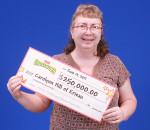 Carolynn Hill of Erieau recently won $250,000 on a scratch ticket.