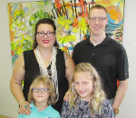 United Way of Chatham-Kent 2017 campaign chair Elizabeth Downey-Sunnen is shown here with her family – husband Brian and children Milo, 6, and Zadie, 10.