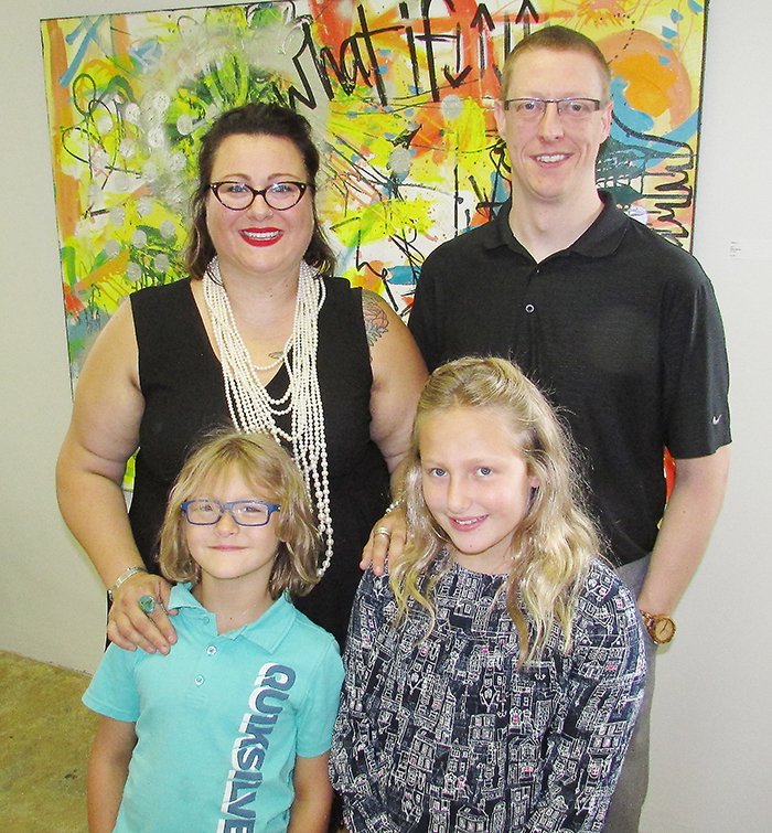 United Way of Chatham-Kent 2017 campaign chair Elizabeth Downey-Sunnen is shown here with her family – husband Brian and daughters Milo, 6, and Zadie, 10.
