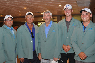 From left, Foundation of CKHA supporters, Mark Dorssers, Jack LeClair, Bill Dorssers, Brendan Seys (Wayne State University), and Owen Dorssers were named tournament champions at the Foundation of CKHA's 12th Annual Pro/Am Golf Tournament recently.