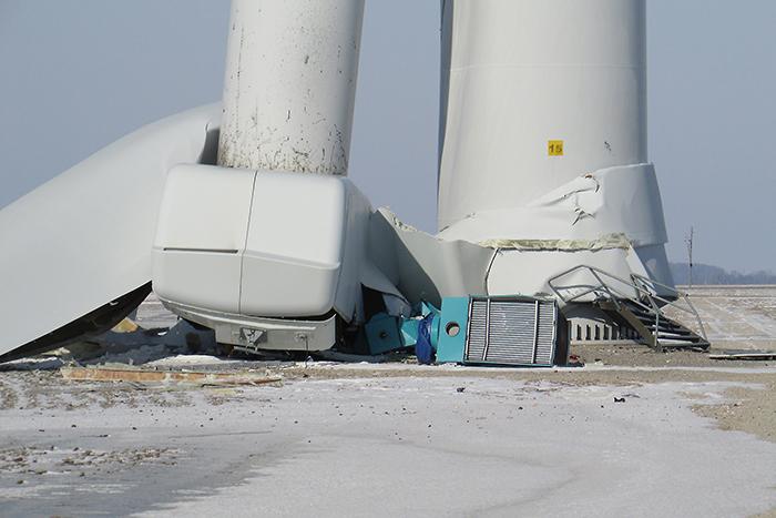 Investigation Underway Into Toppled Turbine Chatham Voice